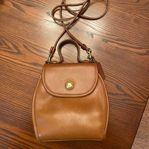 Vintage Coach leather bag Tan